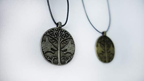 Designed By Iron Banner Pendant Necklace Souvenir. Bronze or Silver Metal Color (Metal)