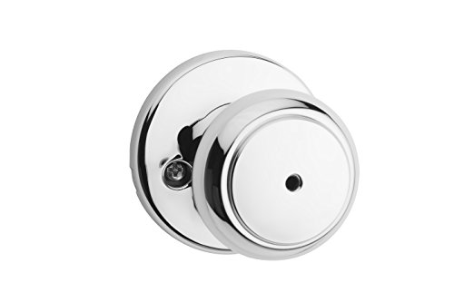 Privacy Chrome Knob (Kwikset Cove Privacy Bed/Bath Door Knob in Polished Chrome)