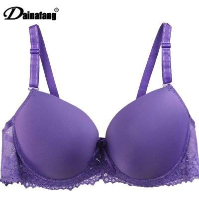 GuiZhen Comfortable Bra Fashion Solid White Brand Push Up Fashon Bow Lace Adjusted Bras for Women