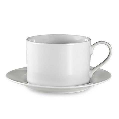 Everyday White® by Fitz and Floyd® Rim 12 oz. Cup and Saucer
