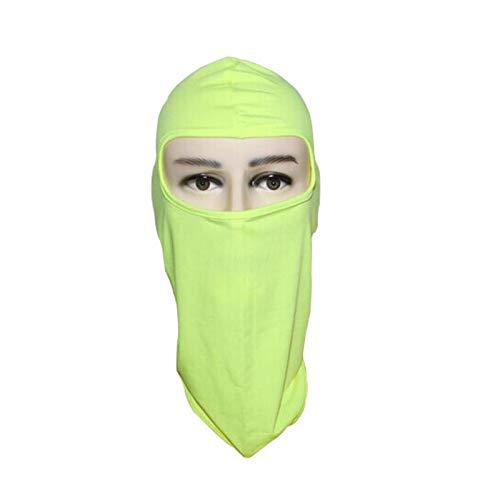 FEDULK Balaclava Face Mask Cycling Ski for Men and Women Sun Hood Masks for Outdoor Sports Motorcycle Fishing(Yellow)