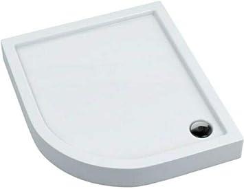 Plato de ducha (90 x 90 cm, acrílico, altura: 16 cm, profundidad: 5 cm, semicircular): Amazon.es: Bricolaje y herramientas
