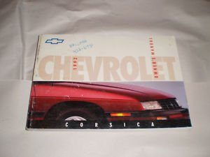 1992 Chevrolet Corsica Owner's Manual