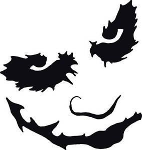 amazon com dd012 batman joker face inspired decal sticker 5 5