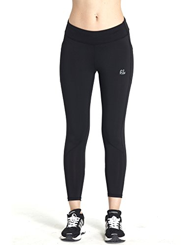 Goodsport Women's Moisture-Wicking Fitted Cropped Legging, Black, Small