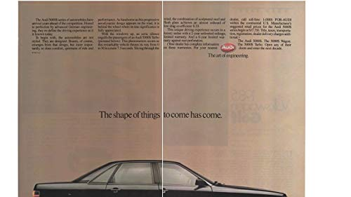 Magazine Print ad: 1985 Audi 5000 Series, 5000S Sedan, Wagon, Turbo,