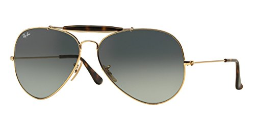 Ray-Ban Mens Outdoorsman Ii Sunglasses (RB3029) Gold/Grey Metal - Non-Polarized - - Ray Ban Specs Frames