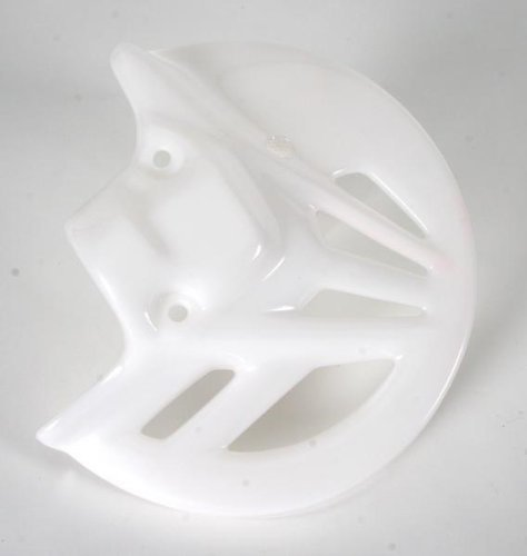UFO Plastics Front Disc Cover White for Honda CR CRF 125-450