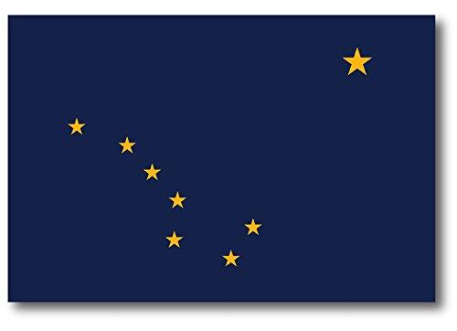 Alaska Car Magnet US State Flag Refrigerator Locker SUV Heavy Duty Waterproof…