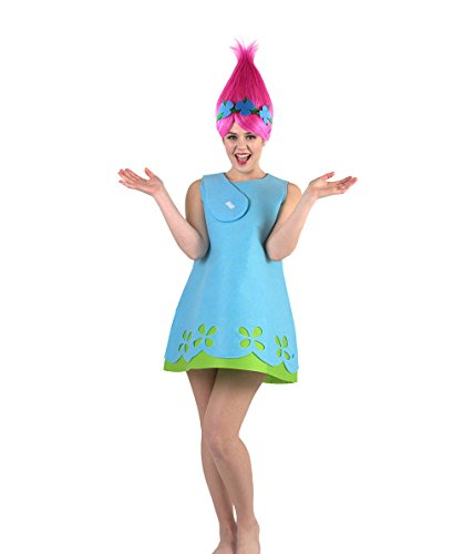 Halloween Party Online Women's Troll Princess Costume, Blue -