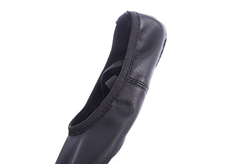 FERMAID Leather Ballet Dance Shoes Girls Pointe Shoes Slippers Flats Yoga Shoe(Toddler/Little Kid/Big Kid/Women) (215, Black) by FERMAID (Image #4)