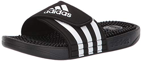 adidas Unisex Adissage, White/Black, 6 M US Big Kid