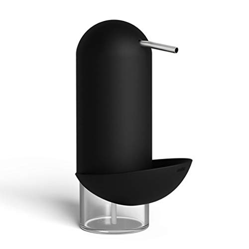 Soap Dispenser, Push-Type soap Dispenser Household Personal Hand sanitizer Bottle Hotel Bathroom soap Dispenser Kitchen Desktop soap Dispenser (Color : Black, Size : 11.419.7cm) by Personal Care Product Dispensers