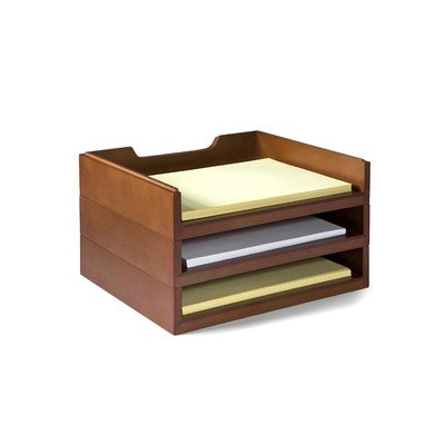 Bindertek Stack and Style Desktop Letter Tray Color: (Cherry Letter Tray)