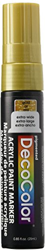 (Uchida Of America 415-GLD 15 MM Decocolor Acrylic Marker, Gold)