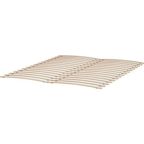 Find Discount Wood Slatted Bed Base Size Fits Ikea Bed Frames , Birch (Queen)