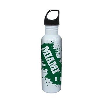 Miami Hurricanes acero inoxidable botella de agua