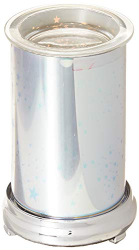 Tart Warmer, Electronic Candle Warmer, 3D Glass Star Effect Pattern Scent Warmer, Aroma Essential Oil and Wax Tart Aroma Warmer, Scent Decorative Lamp for Office Home Bedroom Study Yoga