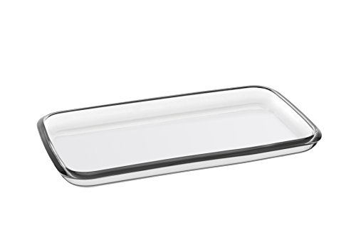 Barski European Glass - Rectangular - Serving Tray - Platter - 14.2