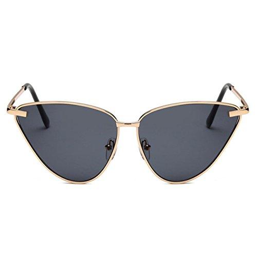 Cadre de Cercle Polarisé Marée Fashion Fashion Female Sunglasses , Cadre Doré Gris