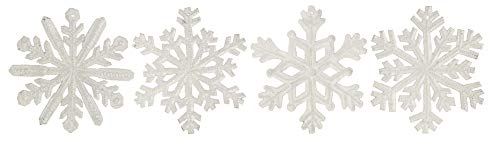 (Haitian Hands 'White Snowflake Ornaments - Set of 4' Haitian Handcrafted Metal Art Made from Recycled Steel Barrels)