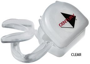 Century 2 Piece Mouth Guard & Case - Mouth Guard Kit - Clear / Adult