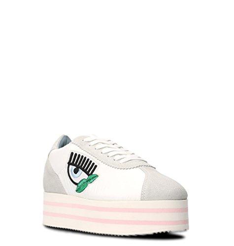 Chiara Ferragni Damen CF1715 Weiss Leder Sneakers