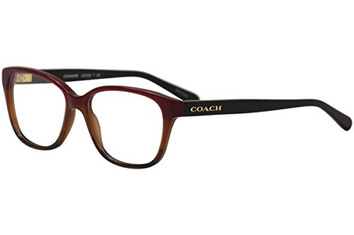 Coach Women's HC6103 Eyeglasses Aubgn Cognac Varsity Stripe 54mm ()
