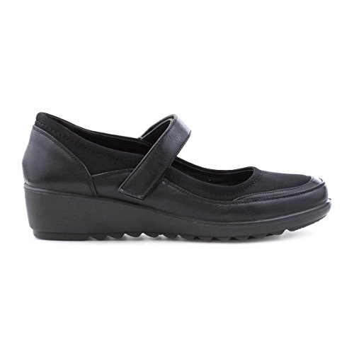 Cushion Walk Womens Black Wedge Comfort Shoe Black FMETnqPwH8