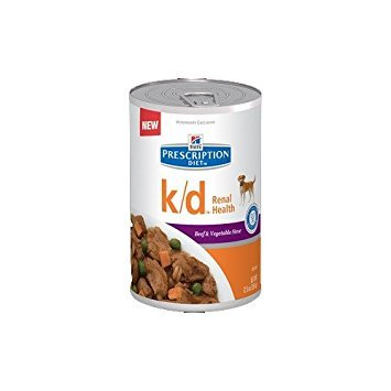 Hill's Pet Nutrition K/d Kidney Care Beef & Vegetable Stew Canned Dog Food, 12.5 oz, 12 Pack Wet Food