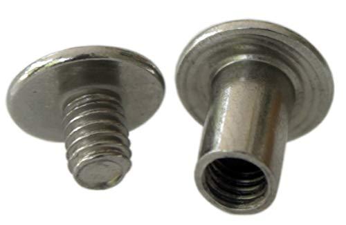 (NDC 3/8 inch Stainless Steel Chicago Screws Binder Posts 25 Sets)