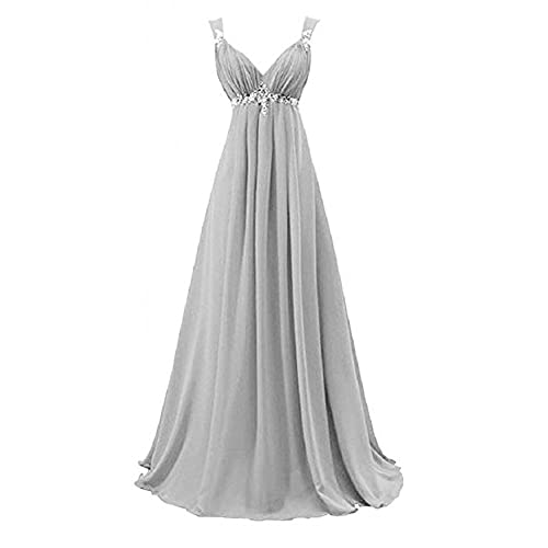 Coonek Elegant A Line Bridesmaid Dress Chiffon Evening Prom Dresses for Wedding Long customsize