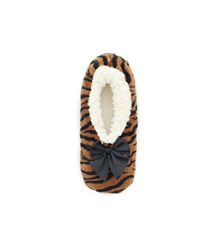 MeMoi Zebra Print Sherpa Lined Womens Slippers l Teen Slippers Multi zz2C8y