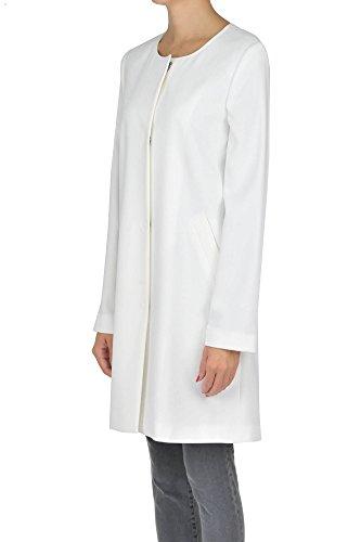 HOPPER Blanco MCGLCSC03028E Mujer Abrigo Poliéster fwzqF