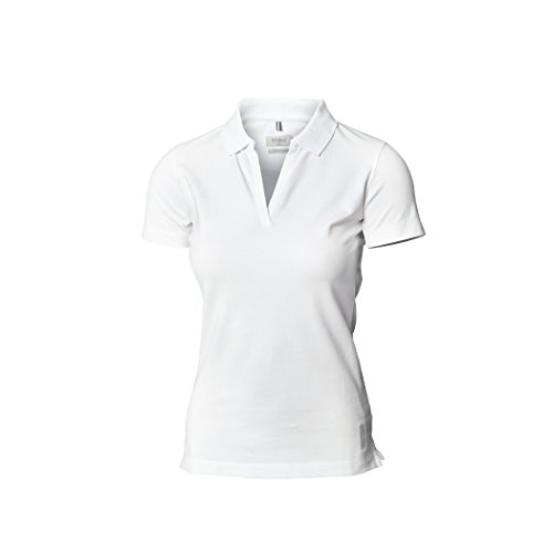 Nimbus Womens/Ladies Harvard Stretch Deluxe Polo Shirt Blanco