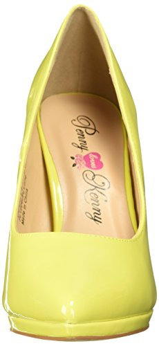 Women's PF Yellow Penny Patent Loves Opus Platform Kenny CqUTEIw