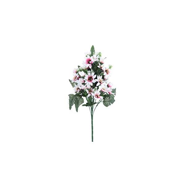 27 Heads/Bouquet Small Aster Artificial Flower Silk Flowers Gerbera Flores Daisy Fake Flower DIY Wedding Garden Decoration,Rose Red