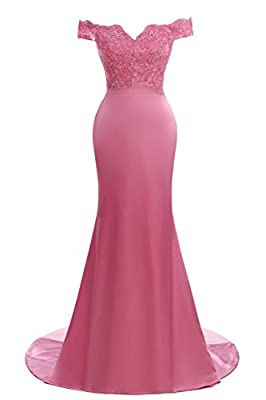 Women's Retro Strapless Long Mermaid Evening Gowns Formal Prom Dress Bridesmaid