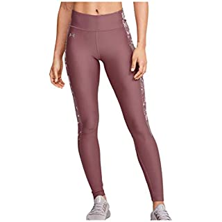 Under Armour Heatgear Armor Camo Jaqard Inset Leggings, Hushed Pink (662)/Dash Pink, X-Small