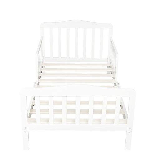 OHOJIDA White Perfect Combination Style Baby Toddler Bed Kids Furniture Children Wood Bedroom with Rails White by OHOJIDA