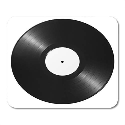 (Emvency Mouse Pads Album Black Vinyl Record Disk Label Disc White Equipment Mouse pad 9.5