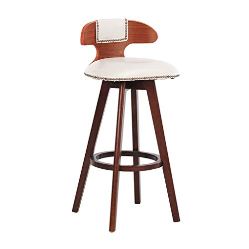 SZPZC Barstools Chair, Footrest Rotatable PU Seat, High Stools Dining Chairs for Breakfast Kitchen | Pub | Café Bar Stool Max. Load 440lb Bar Chairs (Color : Brown, Size : Seat Height:27inch) 27' Square Bar Table
