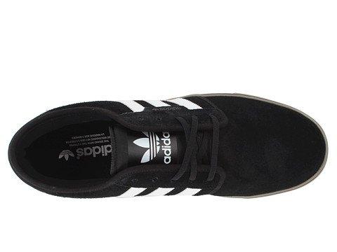 Adidas Uomo Da Skateboard Seeley Nero / Bianco / Gum 12,5 D - Medio