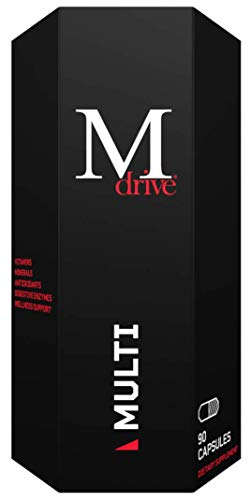 Mdrive Multi for Men, Daily Multivitamin Includes Immune Health Support from Zinc, Selenium, Manganese & Vitamin D, Enzymes for Digestive Support and CoQ10 and Plant Extracts for Energy Support, 90ct