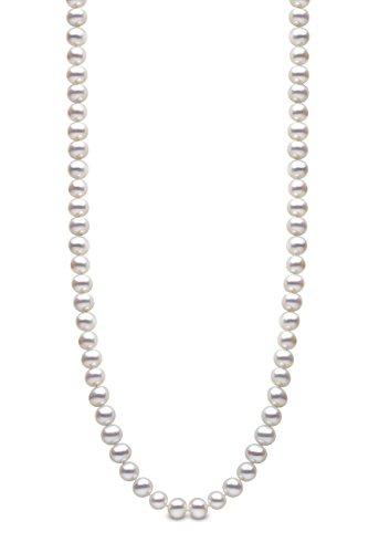 Kimura Pearls Femme  18carats (750/1000)  Or jaune|#Gold Rond  Perle d'eau douce chinoise Blanc Perle FINENECKLACEBRACELETANKLET