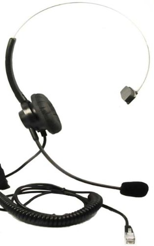 Headset Headphones + Adjustable Volume + Mute Control for Cisco Ip Telephone 7931 7940 7960 7970 7962 7975 7961 7971 7960 M12 M22 and All Series by WirelessFinest
