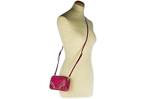 Prada Pochette Handtasche Damen Tasche Leder Clutch Bag mit Schulterriemen saffi