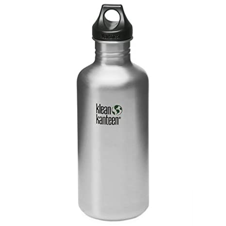 639206ac3bfc Amazon.com   Klean Kanteen Classic Single Wall Stainless Steel Water Bottle  with Leak Proof Loop Cap   Sports   Outdoors