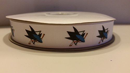 Hockey Wreath (San Jose Hockey Grosgrain Ribbon (10 yards))