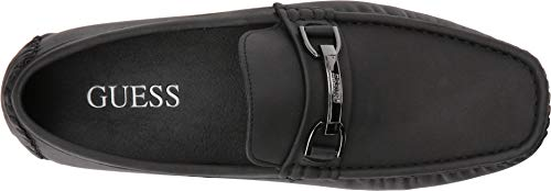 Image of Guess Men's AXLE Driving Style Loafer, Black, 12 Medium US